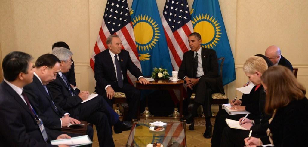 Nazarbayev con el Presidente Obama